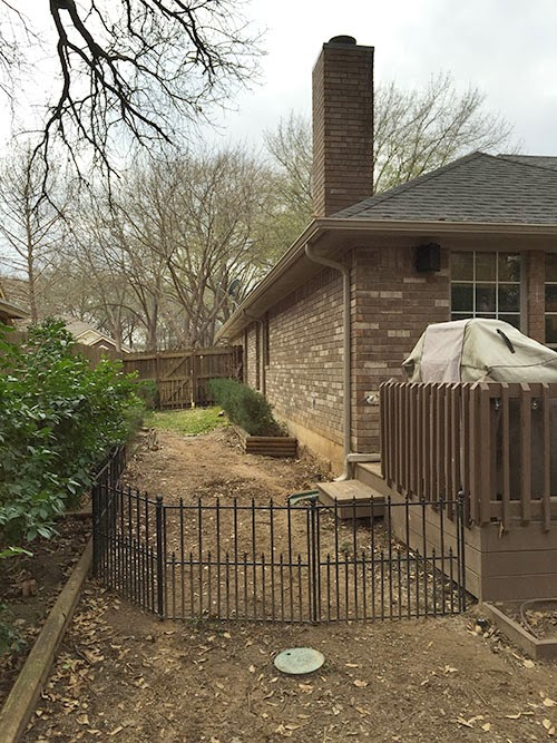 We Had That Short Wrought Iron Fence Sitting In Our Garage, So It Was Nice  To Put It To Use. We Need A Little Bit More To Finish The Dog Run, ...