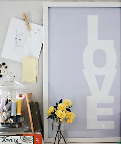 Love Print Poster // Schriftbild Liebe