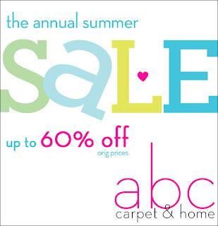 ABC Carpet & Home Summer Sale Starts 6/14