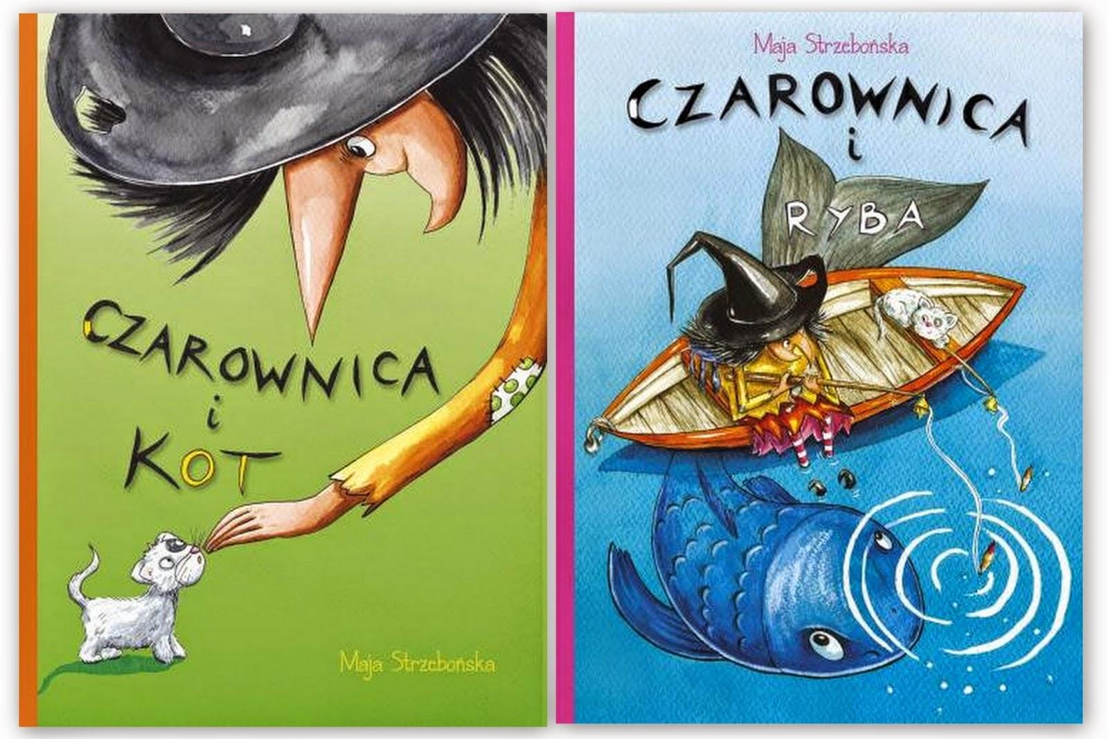 Maja Strzebońska. Czarownica i kot. Czarownica i ryba.