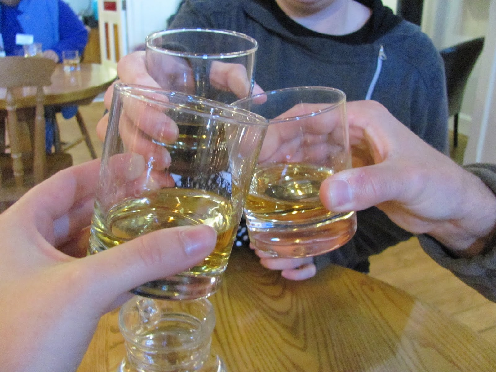 A 10 year and honey whiskey sample at Bushmills' Distillery in Bushmills, Northern Ireland, UK
