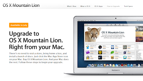 Apple OS X Mountain Lion Will Be Released this July 25