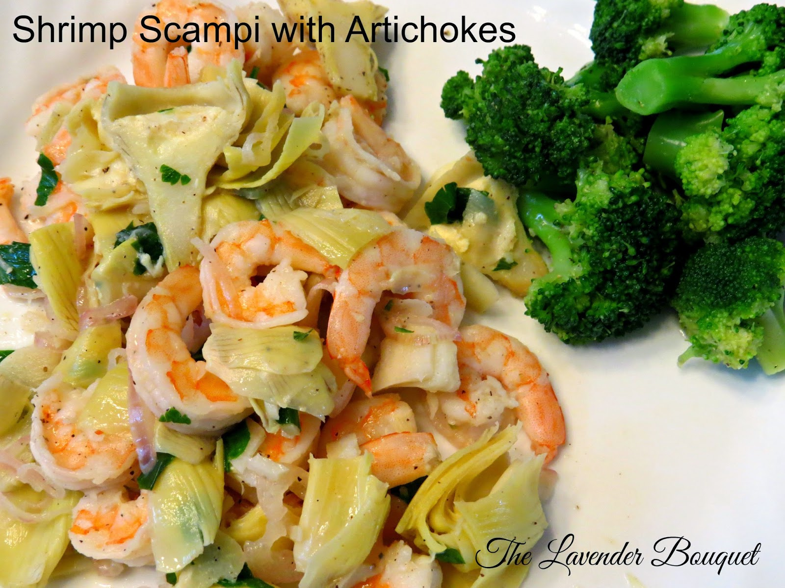 The Lavender Bouquet: EASY SHRIMP SCAMPI--Great Meatless Meal!