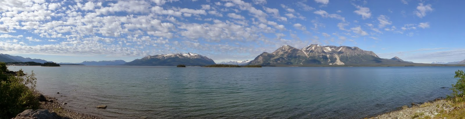 Panorama of Atlin Lake