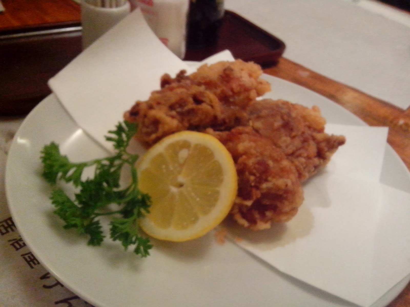 The Japanese-style deep fried chicken Tori Karaage looked great even ...