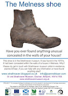 Melness Shoe - found concealed in the walls of a house in Melness.
