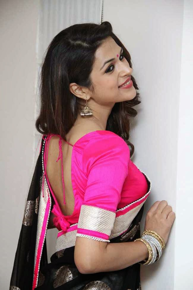 Actress Shraddha Das Blouse Design
