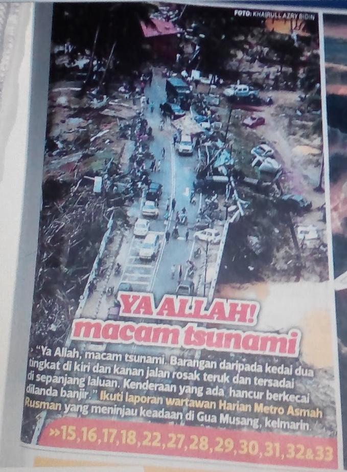 Tsunami Kecil Di Gua Musang