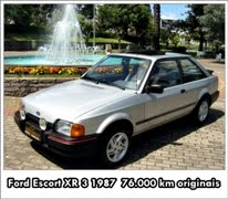 FORD ESCORT XR 3  1987 COM 76.000 KM