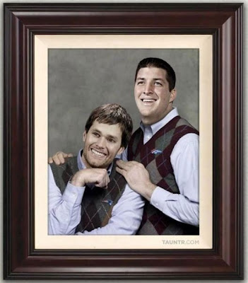 Tom Brady and Tim Tebow - the odd couple