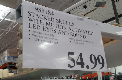 Deal for the Stacked Skulls with Motion Activated LED Eyes and Sound at Costco
