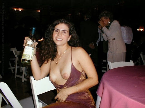wife flashing her tits at a wedding party