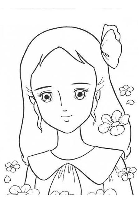 صورة شخصية سالي للتلوين للاطفال