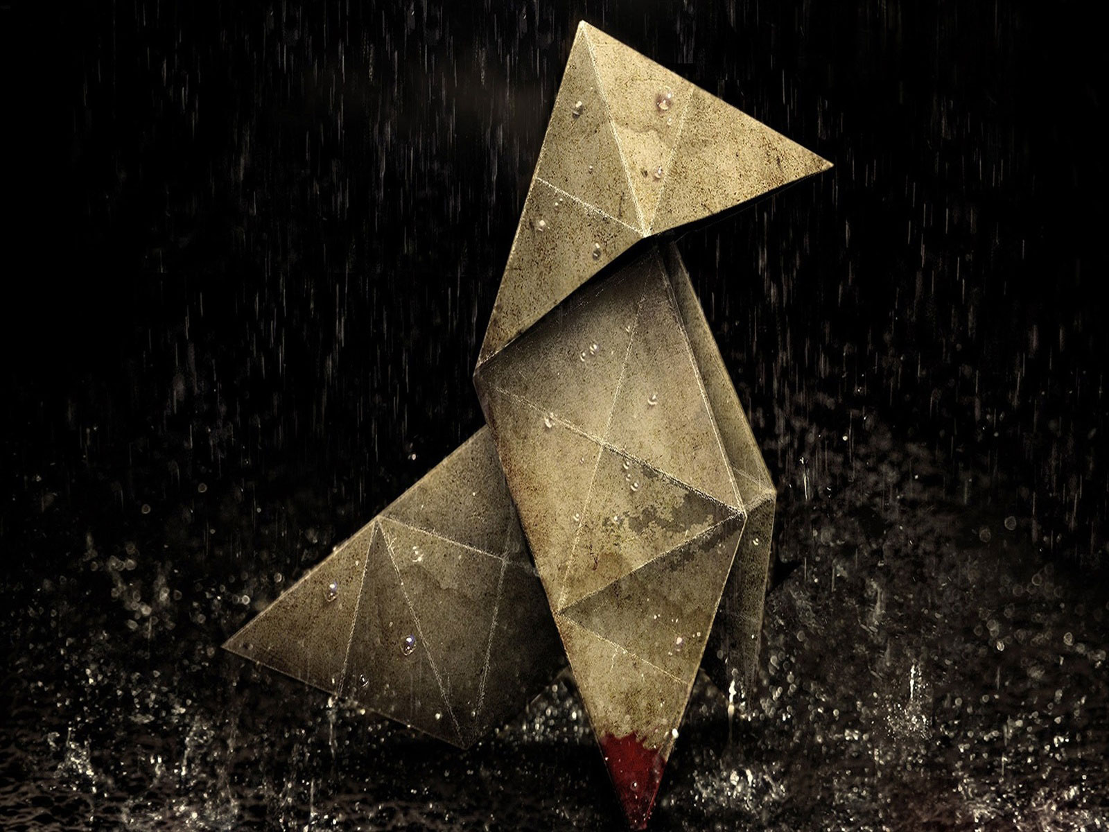Origami Heavy Rain wallpaper