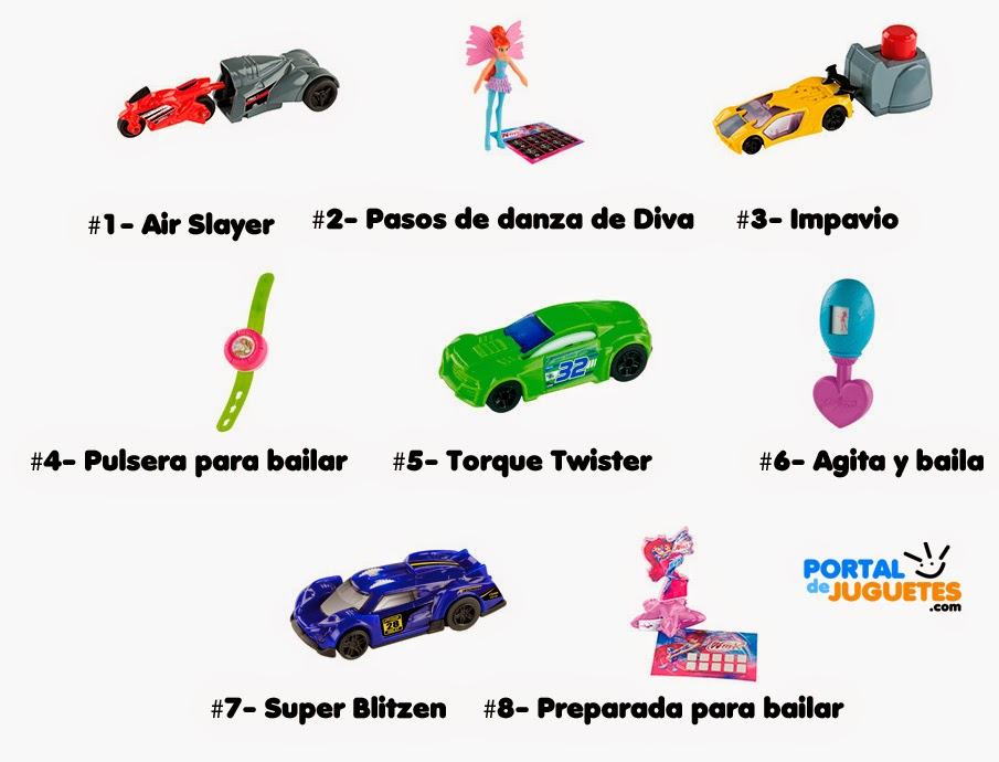 juguetes hot wheels winx happy meal mcdonalds nombres
