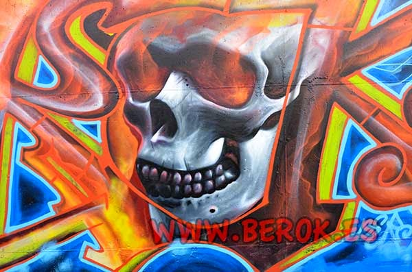 Graffiti de calavera