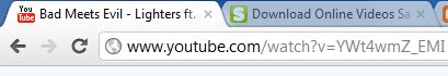 Copy your favorite youtube URL