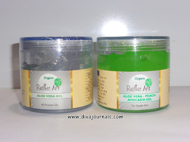 Rustic Art Organic Aloe vera & Aloe vera-Peach-Avocado Gels Review