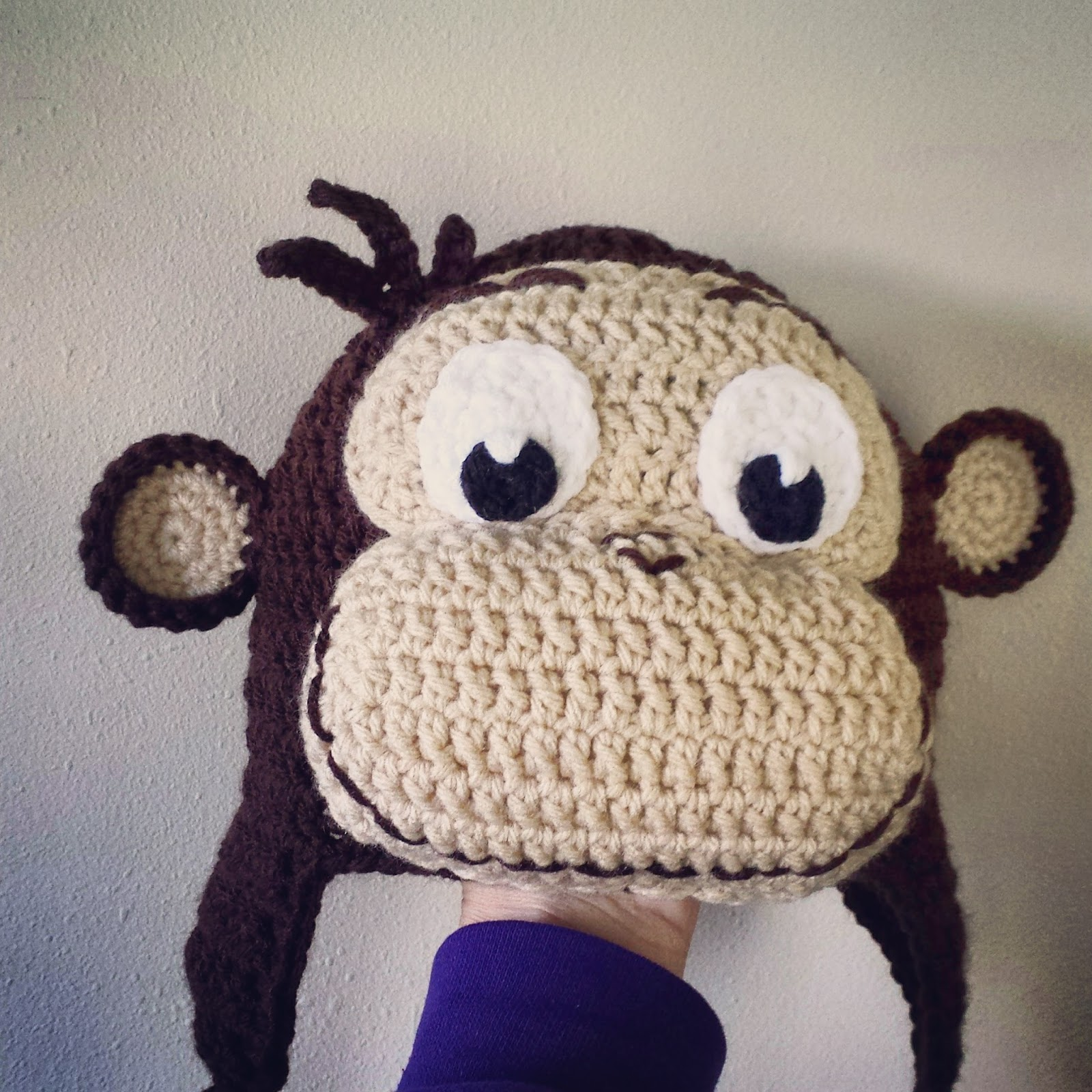 Free Knitting Pattern For Baby Monkey Hat : Lovebugs and Monkeys: Curious George Hat *Free Crochet ...