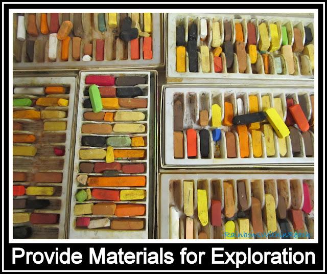 photo of: Art Room Pastel Supplies (Art Room RoundUP via RainbowsWithinReach)