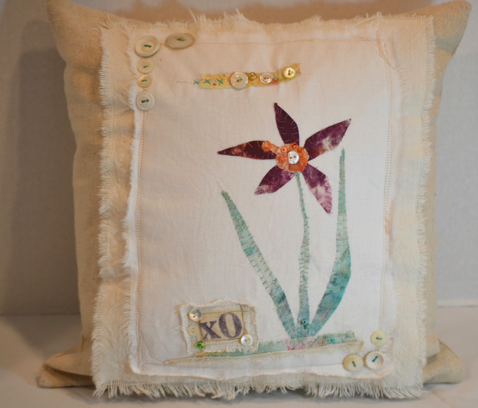 Scrappy Chic Applique Pillow