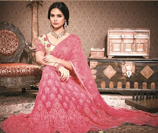 Wedding Pink Lehnga Saree