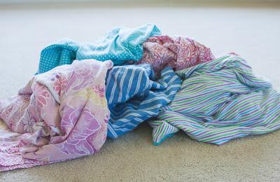 pile of pajama pants