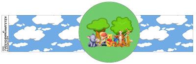Servilleteros de para imprimir gratis de Winnie de Pooh y sus amigos.