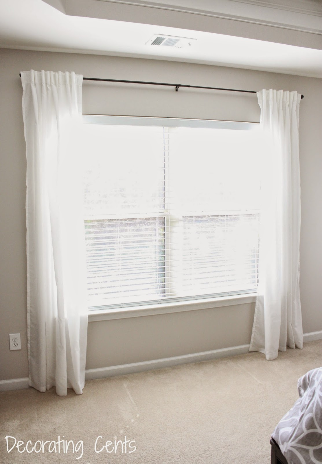 DIY Fabric Trimmed Curtains | Home Design Minimalist Living Room