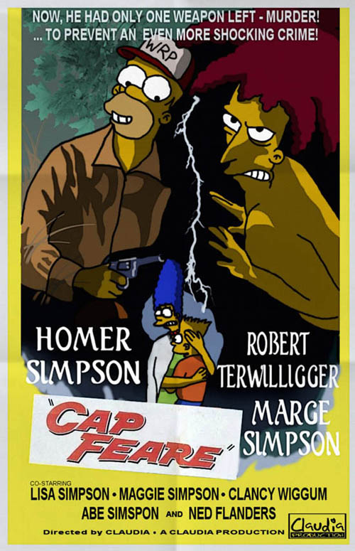 posters cinema simpsons - Cape Fear