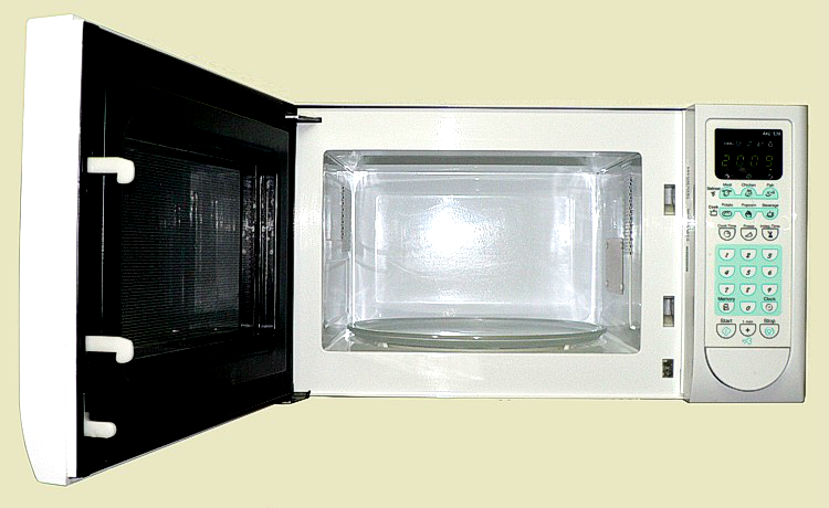 how to easily clean a microwave oven