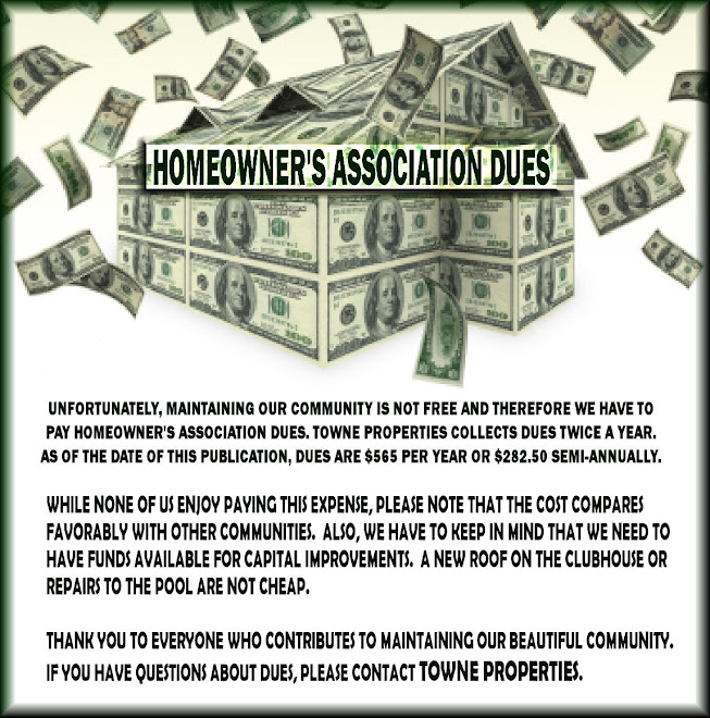 HOMEOWNERS ASSOC DUES 2011