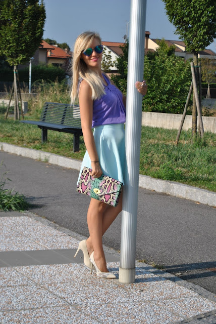 gonna verde acqua outfit gonna verde acqua outfit verde come abbinare il verde acqua come abbinare il verde outfit estivi donna mariafelicia magno fashion blogger colorblock by felym fashion blog italiani fashion blogger italiane blogger di moda blogger italiane green water outfit how to wear green water how to combine green water