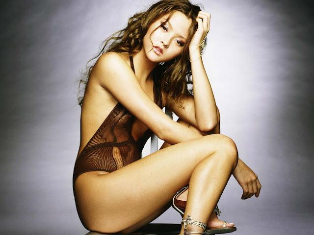 Actress Devon Aoki in bikini