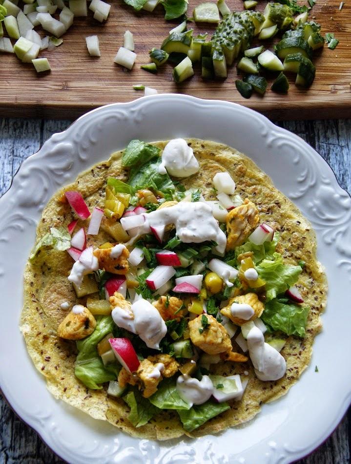 Tortille bez glutenu, z blonnikiem witalnym w 2 wiosennych wersjach