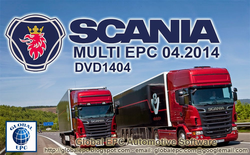 SCANIA MULTI EPC PARTS CATALOGUE 04.2014 (DVD1404) - NO EXP DATE! - NO