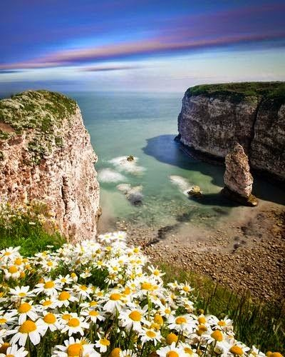 Flamborough in Yorkshire, England