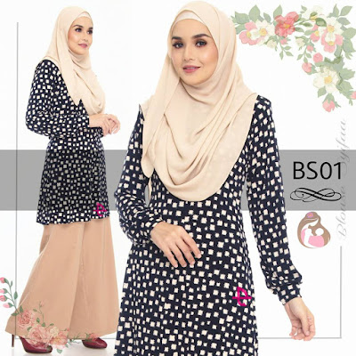 Blouse Syifaa BS01 Nursing Friendly / Breast feeding / Menyusu -zip front access Available S, M,L,XL,XXL, 3XL 4XL ( plus size )