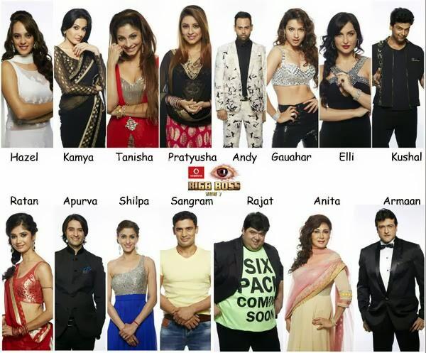 Bigg Boss 7 Contestants