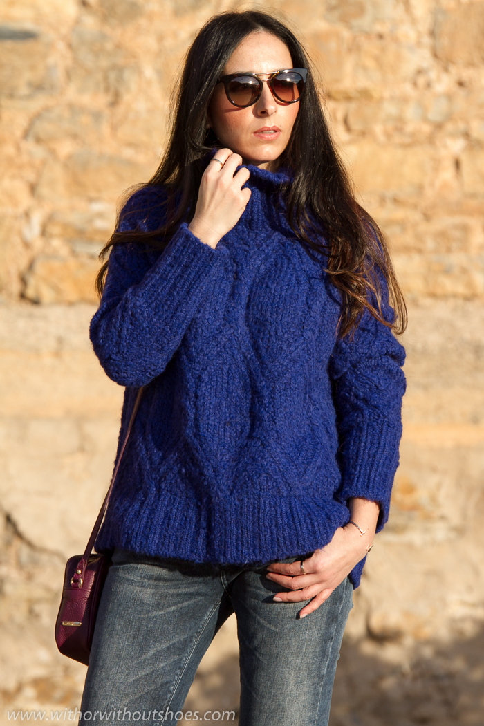 When Klein Blue meets Burgundy | With Or Without Shoes - Blog Influencer Moda Valencia Espau00f1a