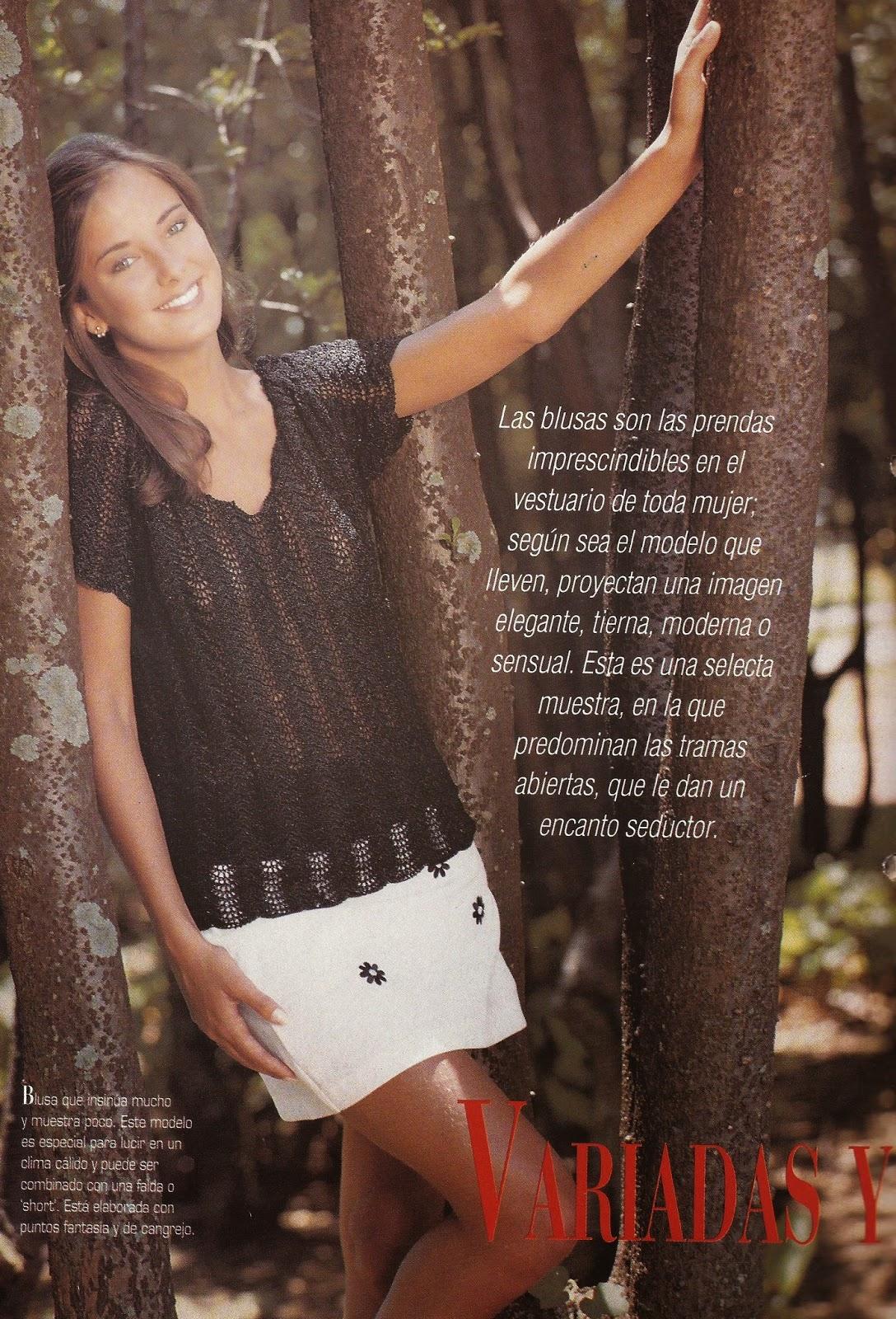 Blusa Negra a Crochet