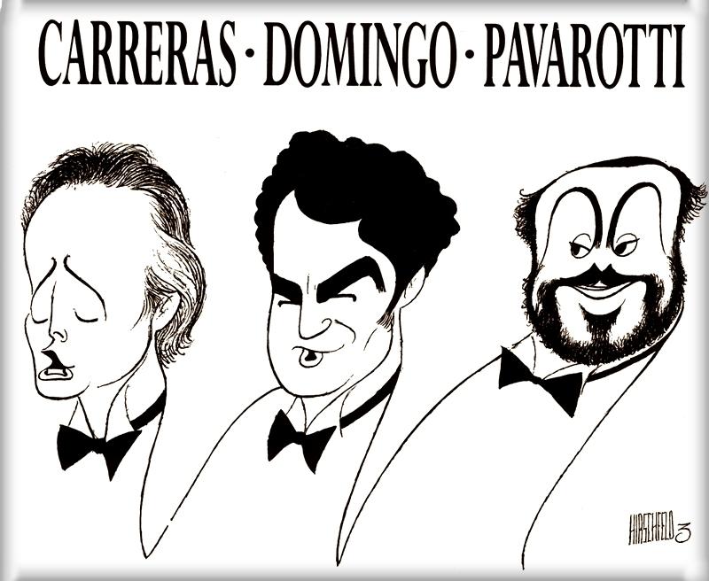 Josep Carreras, 1946, José Plácido Domingo, 1941 e Luciano Pavarotti 1935-2007