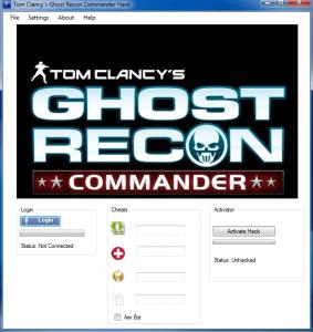 Tom Clancy`s Ghost Recon Commander Hack Tool v.1.02