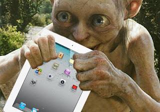 Gollum with his iPad