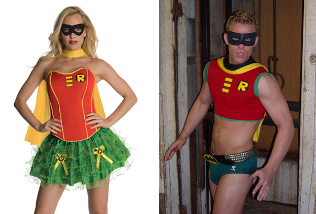 costume robin homme et femme