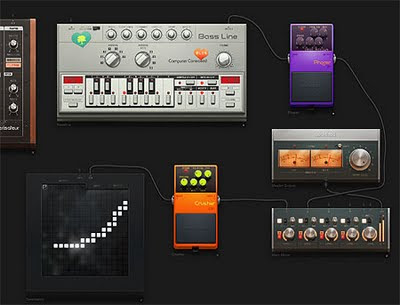 Image of Audiotool, an amazing on-line music creation system.