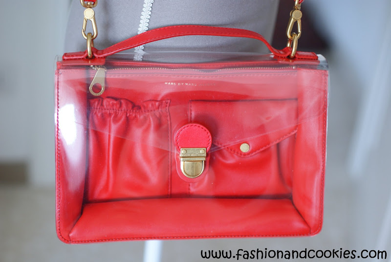 See thru bags, Marc by Marc Jacobs clearly top handle bag, Fashion and Cookies