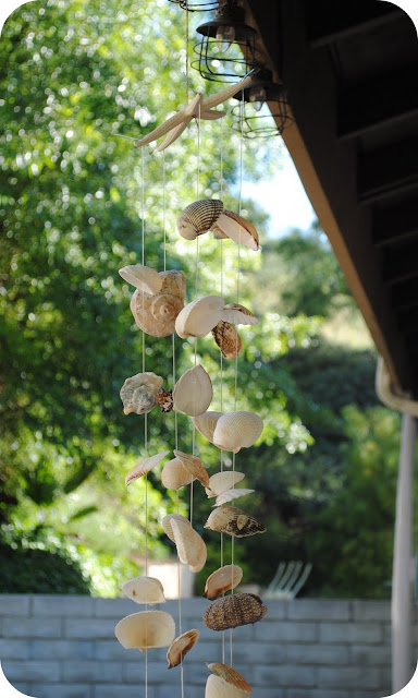crafts for summer: sea shell wind chime tutorial