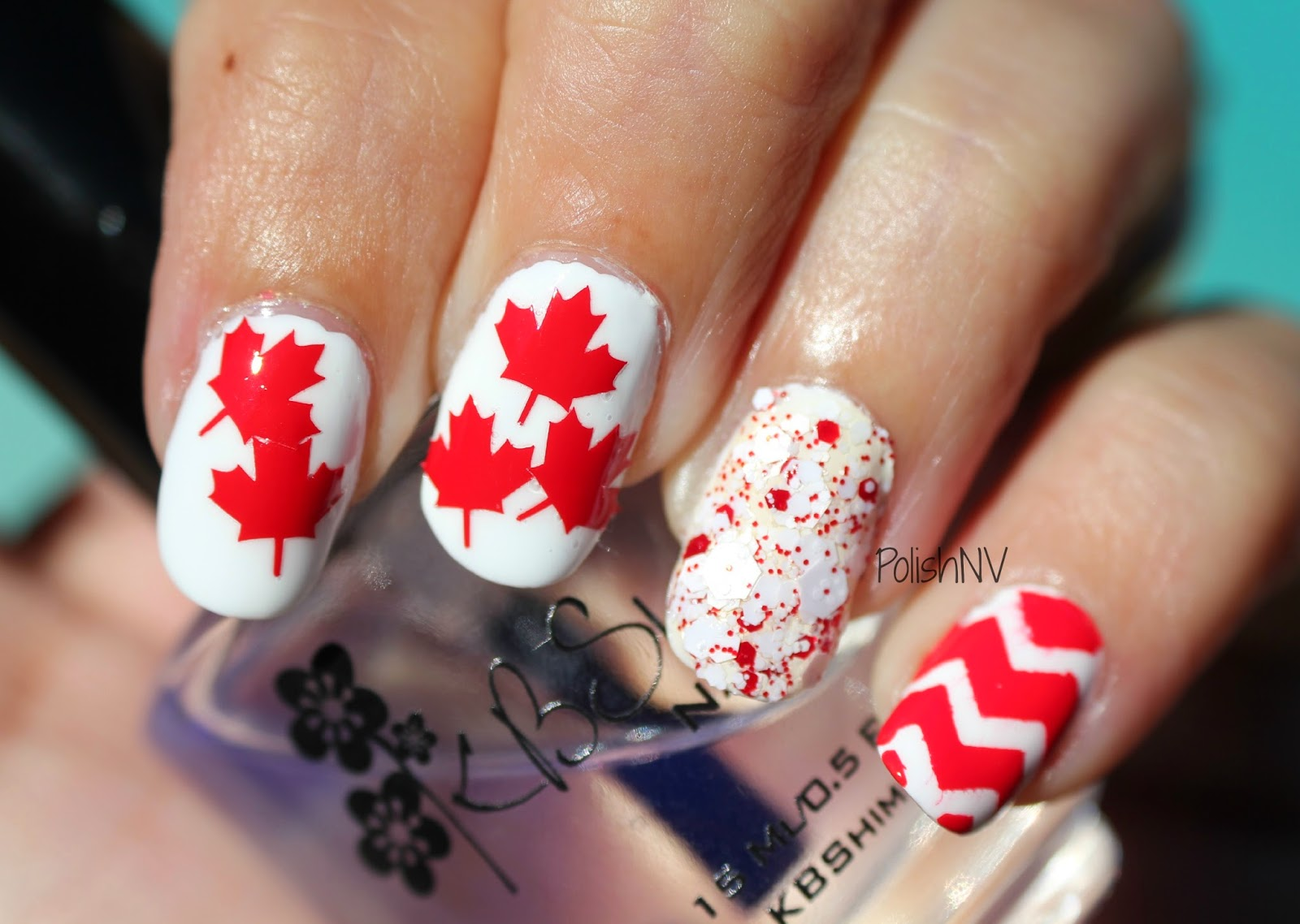 PolishNV: Canada Day Nail Art
