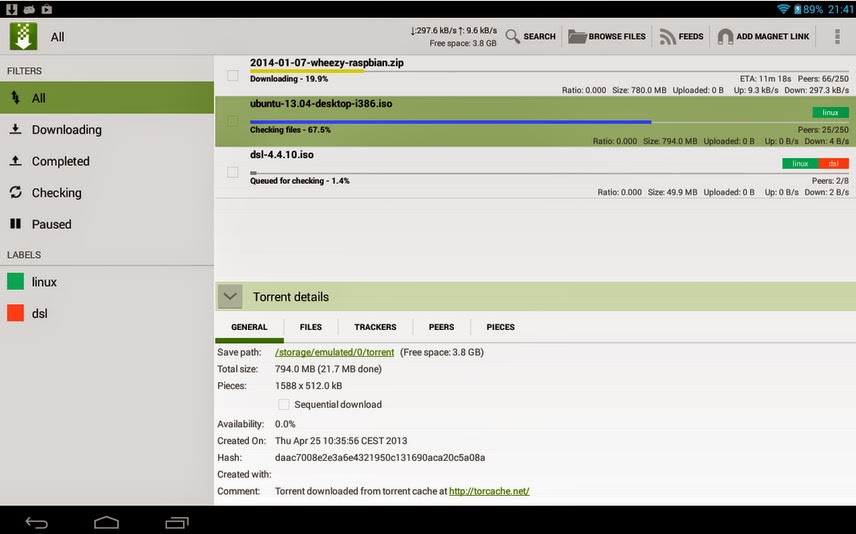 tTorrent Pro 1.4.1.1 screenshot